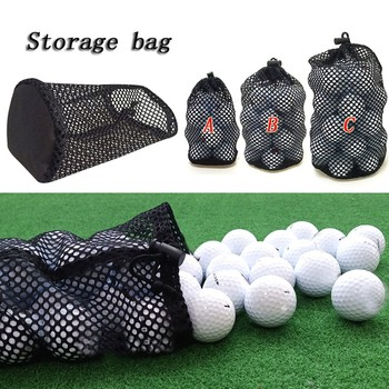 #H35 1PC Golf Balls Storage Bags Drawstring Mesh Reusable Golf Balls Pack Large Capacity Golf Balls Container