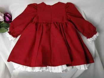 2020 spring autumn baby girls red princess dresses