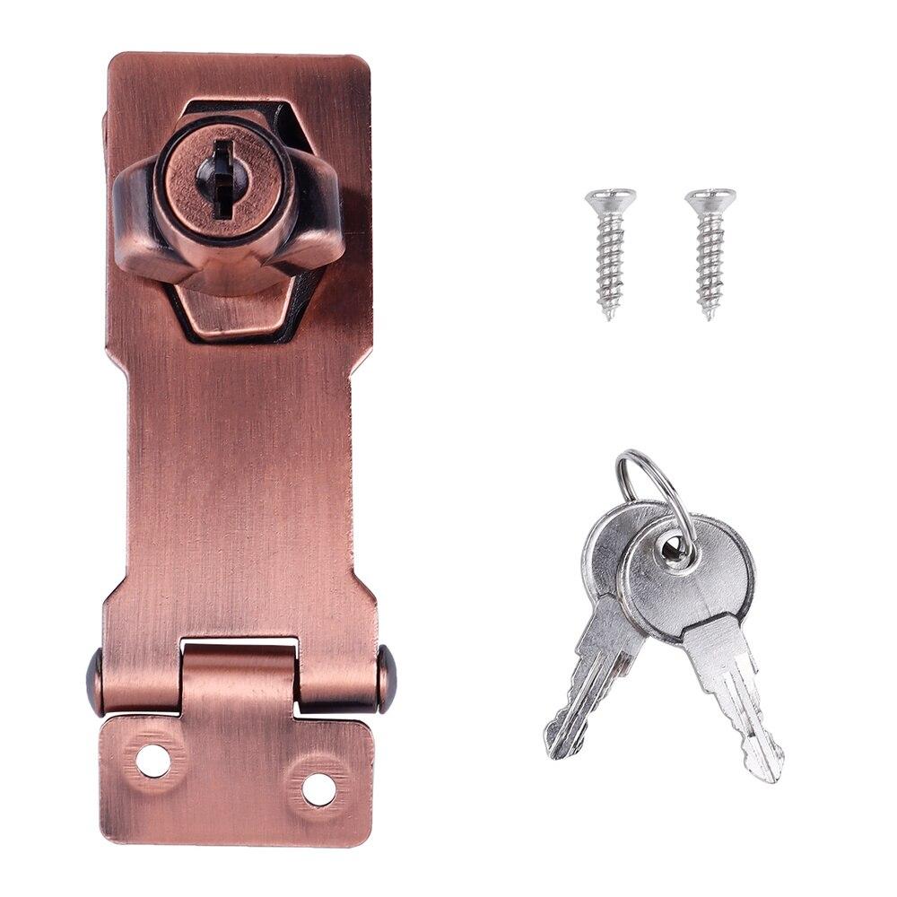 3 дюймовый цинковый сплав 90 градусов с ключом и накладным замком Ручка замок с ключом, на застежке, для двери