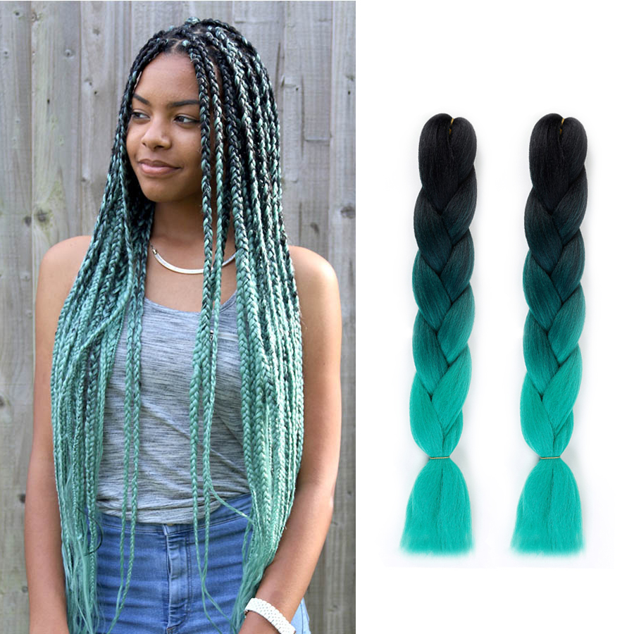 LVHAN DIY Braid Headwear Dreadlocks Wig Men And Women Small Dreadlocks African Gradient Multi-color Braided Hair