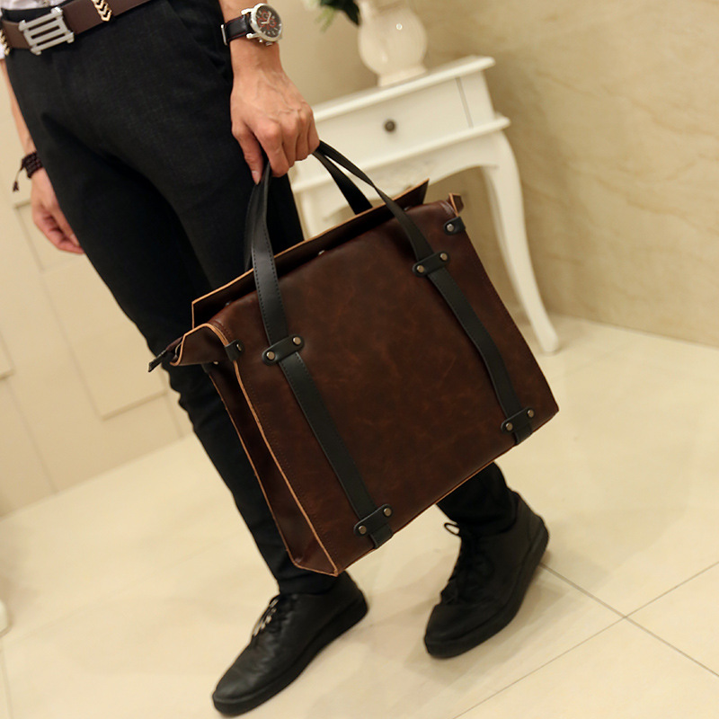 Original New Korean Men's Handbags Leather Men's Handbags High Quality Shoulder Bags Business Bags Leisure Bags