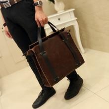 Original new Korean mens handbags leather high quality shoulder bags business leisure