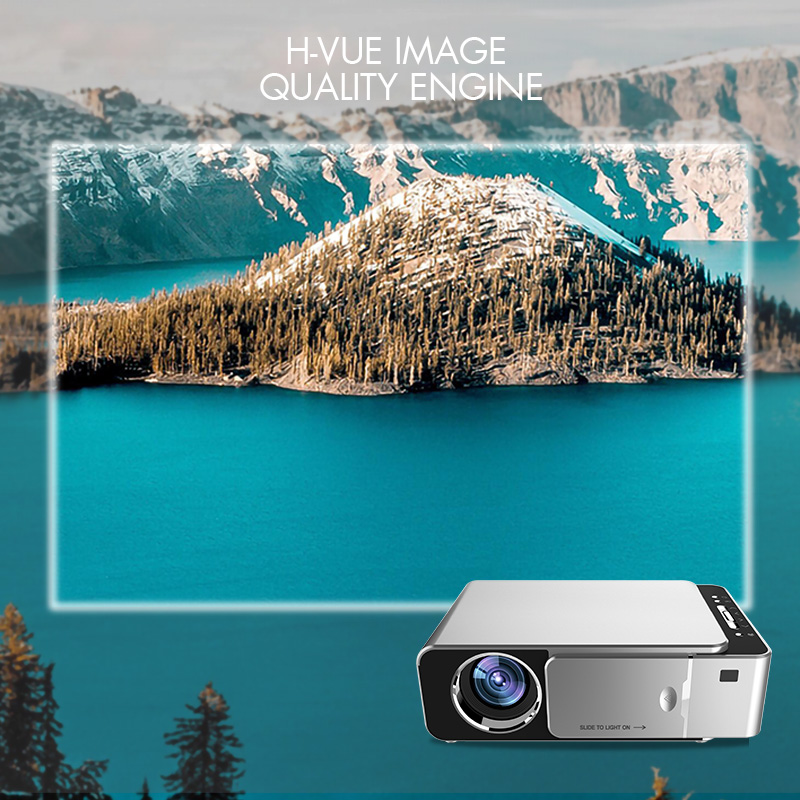 Techstick 4K Projector Full HD 1080P 3500 Lumens HDMI VGA GT10 LED Video Beamer Portable 3D Media Cinema Video Projector Player