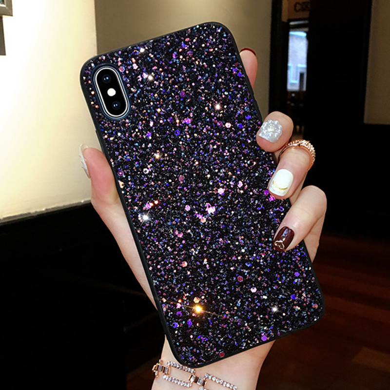 Luxury Glitter Sequins Shining Case for Samsung galaxy A50 Cover for Samsung S10 Plus S8 A50 A30 A20 A70 A6 A7 A8 A9 2018 Bags image
