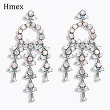 New Luxury Colorful Rhinestone Dangle Earrings For Women Сережки Fashion Jewelry Tassel Statement Earrings Bridal Gift colorful enamel green tassel dangle earrings