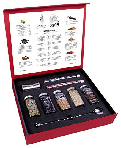 Gin And Tonic Premium Gift Set Of Cocktail Botanicals, Spices, Herbs & Flowers | The Most Original Gin Present Set For Your Gin