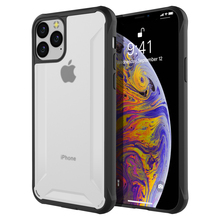 For iPhone 11 11 Pro Case Dual Layer Hybrid TPU+PC Shockproof Rugged Armor Bumper Cover for iPhone 11 Pro Max Case Transparent for iphone 11 11 pro case shockproof soft tpu bumper acrylic armor transparent back cover for iphone xi 11 pro max case clear