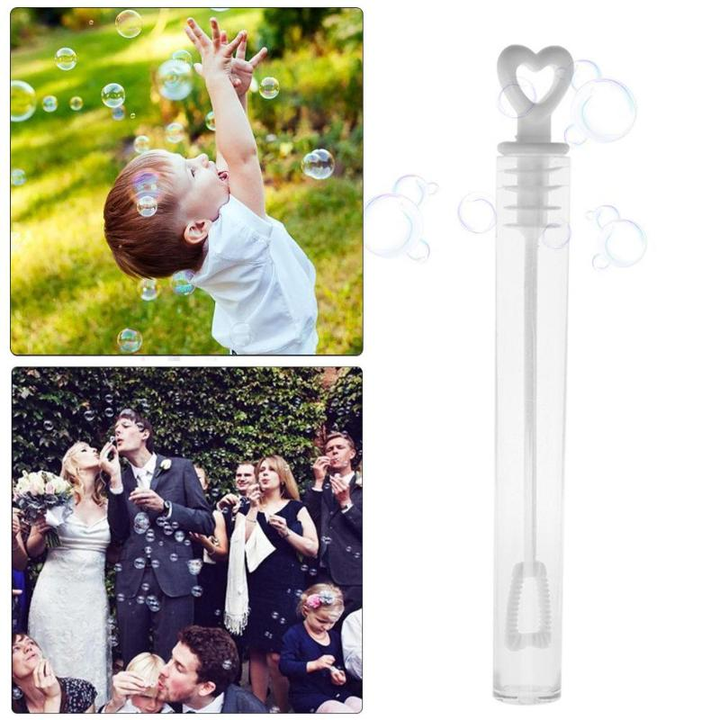 100pcs Love Heart Wand Tube Bubble Soap Bottle Playing Fun Kid Toy Wedding Decor Compact And Portable Carry Convenient