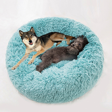 Pet Bed Warm Fleece Cat Dog Bed Round Pet Lounger Cushion For Small Medium Large Dogs Cat Winter Dog Kennel Puppy Mat new winter warm dog round bed soft fleece kennel for puppy pet top quality lounger cushion for small medium large dogs