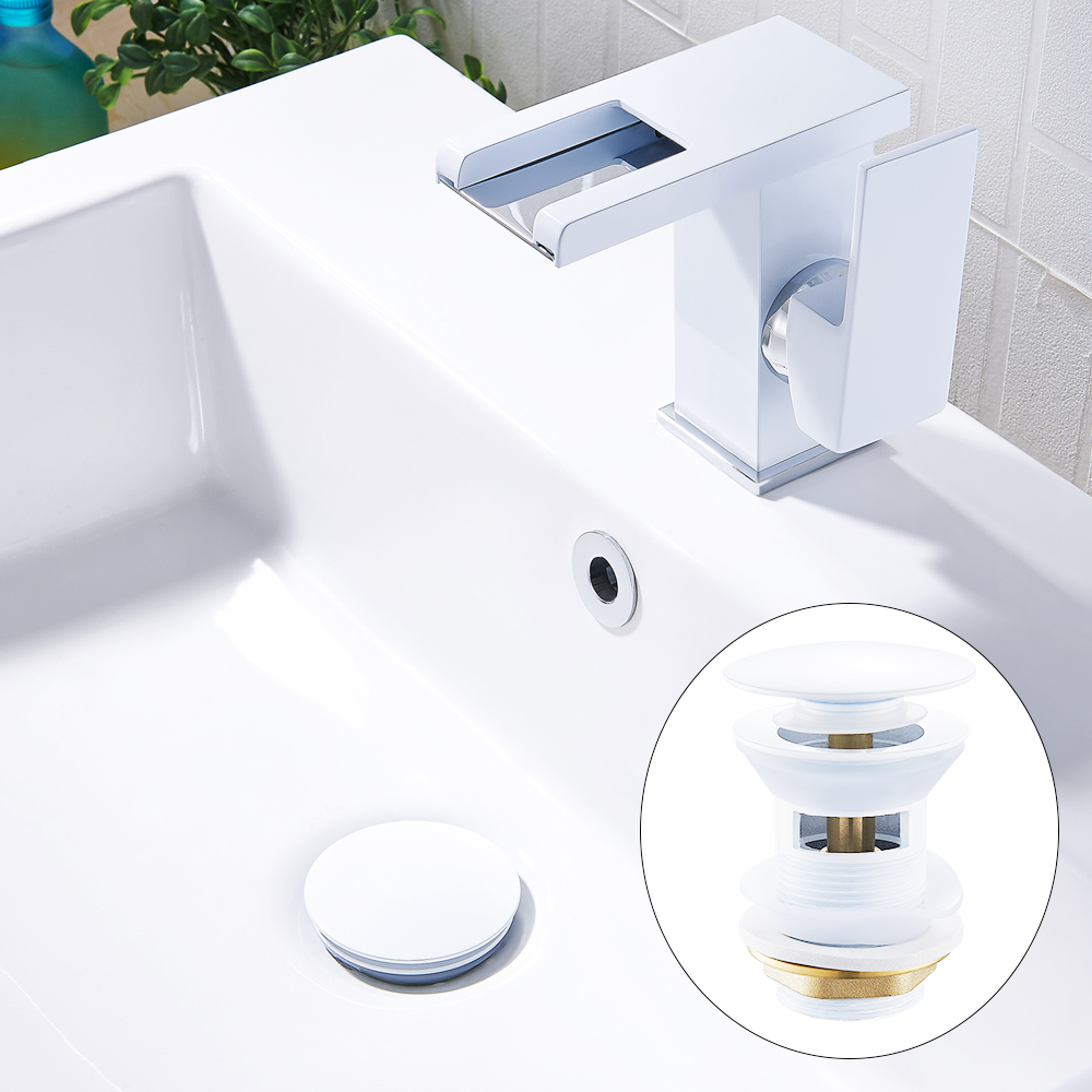 Best Sale 5be6c Luxury Sink Pop Up Drain Stopper Basin Bathroom Lavatory Kitchen Bathtub Accessories Cap Washbasin Plug Brass Black Gold White Cicig Co