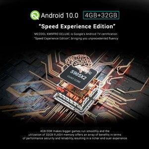 Image 5 - MECOOL KM3 ATV Androidtv Google certyfikat TV, pudełko z systemem Android 10 androida 9.0 4GB 64GB procesor Amlogic S905X2 4K 5G Dual Wifi KM9 PRO 4GB 32GB