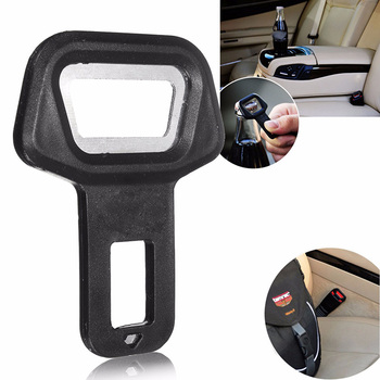 1Pcs Universal Aluminum Alloy Black Vehicle Car Safety Seat Belt Buckle Clip Car Safety Belt Clip Car Seat Belt Buckle Vehicle image