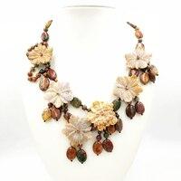 Lily Jewelry Jaspers 6 Ocean Jaspers Flower Statement Cute Fashion Necklace 48cm/19''