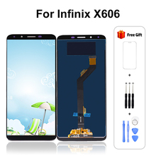ل انفينيكس الساخن 6 X606 LCD مع شاشة تعمل باللمس ل انفينيكس الساخن 6 شاشة مع محول الأرقام إصلاح 6.0 بوصة 100% اختبار شحن مجاني