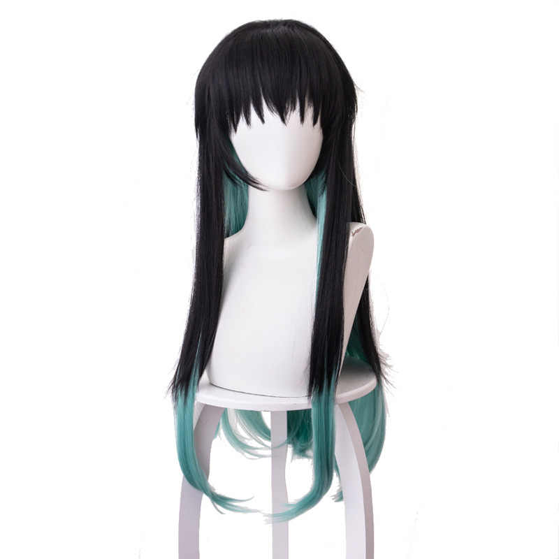 Peluca de anime Cosplay HOJA DE fantasma Cosplay peluca Tokitou Muichirou pelucas cos demonio asesino Kimet verde Pelo Largo + regalo Dropshipping. Exclusivo.
