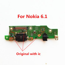 цена на Original Micro USB Charger Charging Port Flex Cable With Microphone For Nokia 6.1 Dock Connector Board