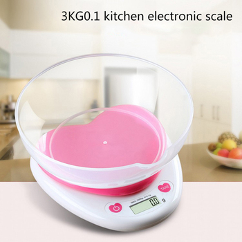 3kg/5kg/0.1g Digital Scale LED Portable Electronic Kitchen Scales Food Balance Measuring ABS Weight Scale image