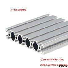 1 ud. Perfil de aluminio 20100 extrusión 100-800mm longitud estándar europeo riel guía anodizado para DIY CNC banco de trabajo de impresora 3D