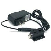 Позиционирование фокусируемый светодиод фонари 650 нм 5 мВт фокус линия луч красный диод лазер модуль w AC адаптер DJ фонари диаметр 12 мм 1230