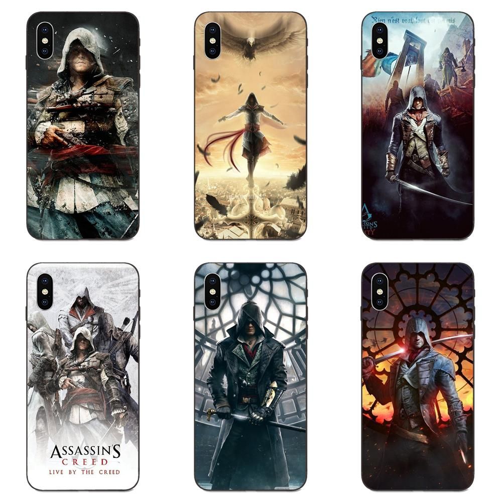 Soft Cell Phone Shell Case Covsr For Apple iPhone 4 4S 5 5S SE 6 6S 7 8 Plus X XS Max XR Assassins Creed Game Figure image