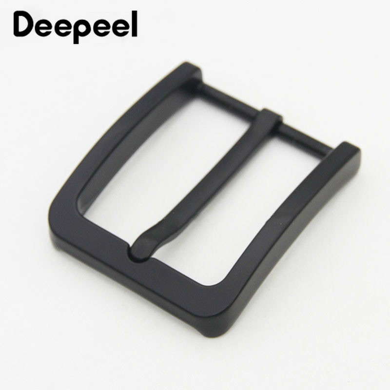 Deepeel 1pc 40mm Unisex Alloy Belt Buckles DIY Leather Craft Stainless Steel Pin Buckle High Quality Hardware Accessories AP527
