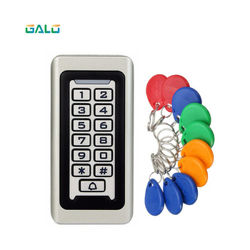 Standalone Access Controller with 10pcs EM keychains RFID Access Control Keypad digital panel Card Reader For Door Lock System image