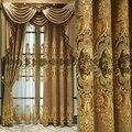 Шторы из синели с вышивкой в европейском стиле, теплоизоляционные и затеняющие готовые занавески на заказ для гостиной, столовой, спальни