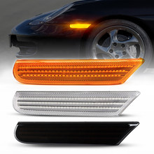 2Pcs Dynamische Bernstein LED Seite Marker Licht Für Porsche Boxster 986 996 911 Carrera Targa 1996-2004 Drehen signal Lampe Auto Blinker