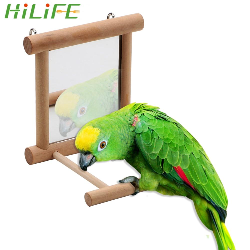 HILIFE Parrot Brid Toy font b Pet b font Toy With Mirror for Cockatiel Parrots Climb