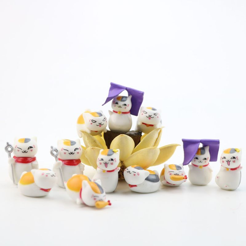 12 pièces figurines jouet animal chat action figure anime figure bénédiction animaux parure articles ameublement articles cadeaux bricolage gâteau