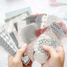 Journamm 60 pçs estética decoração coreana kawaii papelaria scrapbooking cartões para o projeto de jornaling diy material de fundo papel