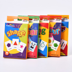 36Pcs/Set Montessori Educational Cognition Card Shape Animal Color Teaching Baby English Learning Word Card Table Game Toys Gift