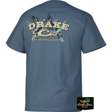 DRAKE WATERFOWL SYSTEMS PINTAIL SPRIGS LOGO S/S T-SHIRT TEE SLATE XL T-Shirt Casual Short Sleeve For Men Clothing Summer