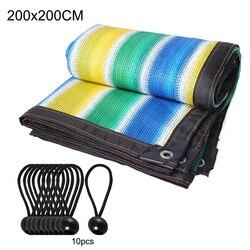 90% Shade Garden Sunshade Fabric PE dach osłona przeciwsłoneczna tkanina ochronna osłona przeciwsłoneczna tkanina z przelotkami na pergolę osłona baldachim
