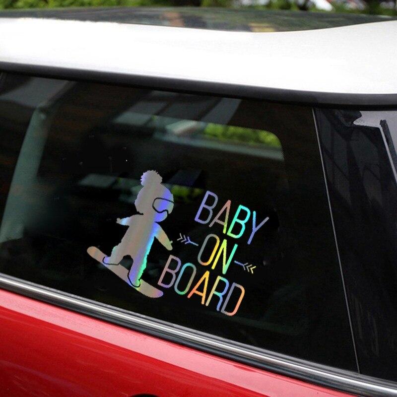 자동차 스티커 스노우 보드에 3D 소년 재미 있은 귀여운 차가운 소년 자동차에 재미 있은 스티커 및 Decals 비닐 자동차 스타일링 장식 16*12cm