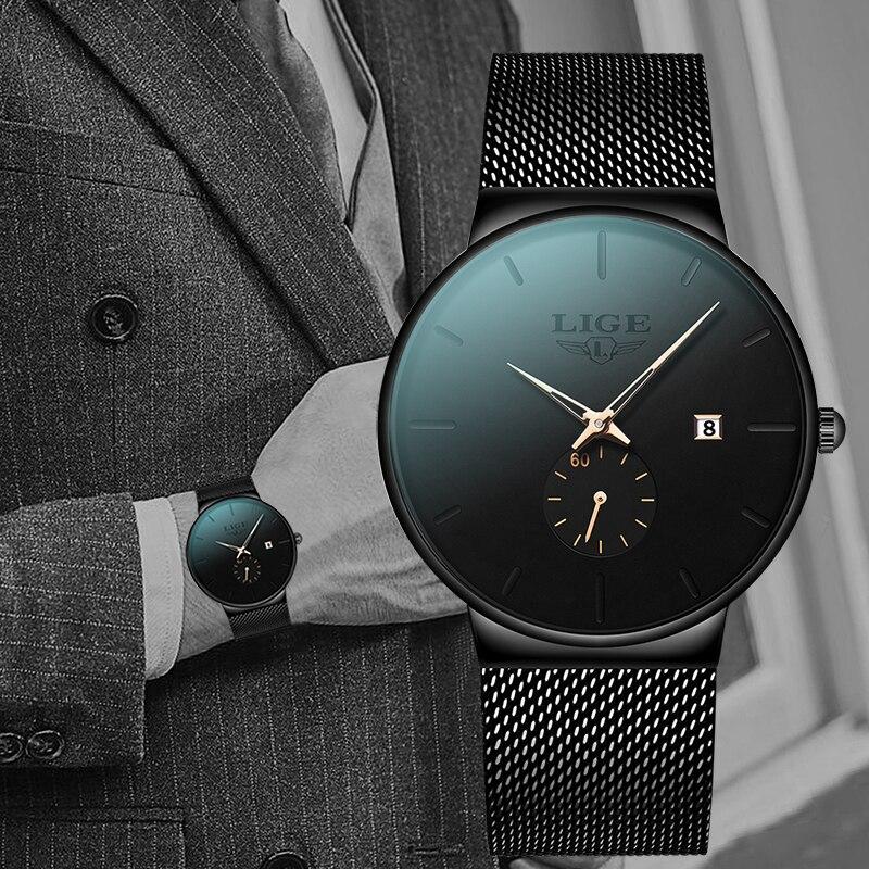 Man Ultra Thin Watch 2019 Men's Watches Luxury Brand Gift Male Clock Business Quartz Wristwatch Watch For Men Relogio Masculino