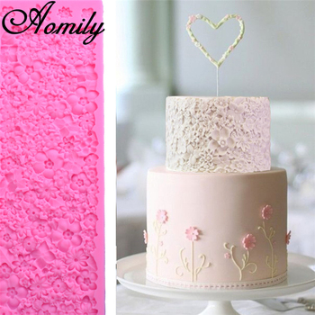 Aomily Silicone Mold Fondant Cake Molds Cake Border Decorating Tools Chocolate Molds Moldes Para Reposteria Baking Accessories