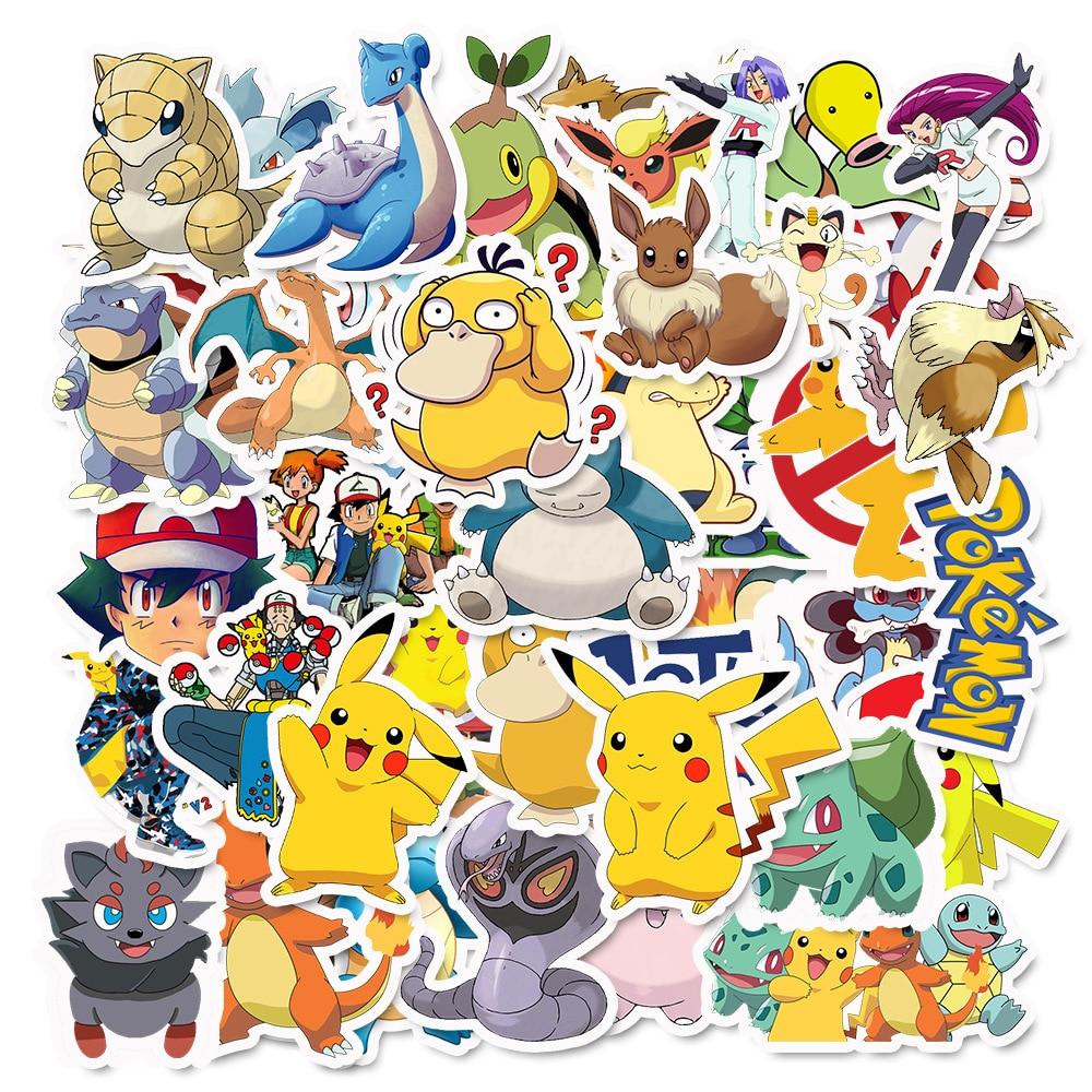 30 différentes petites Pokemon Shape//signes Art Stickers Ordinateur Portable//PC