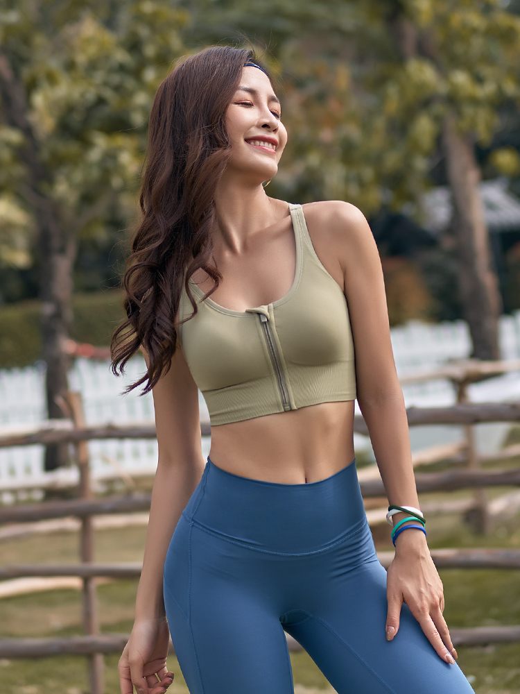 Really strange sports vest women can wear outside gather running yoga beauty back underwear shockproof and saggy fitness bra