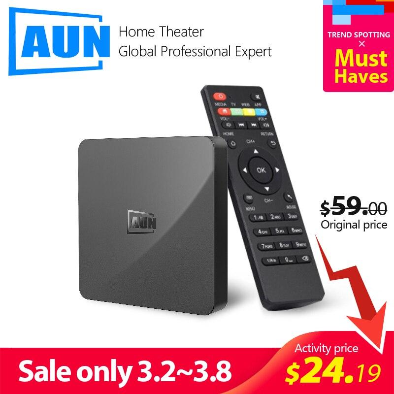 AUN BOX 1 Android 9 0 TV Box  2GB RAM 16G ROM  4K Ultra HD Decoding  WIFI HDMI2 0 Google Player Set Smart Top Box