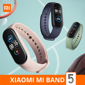 Xiaomi Mi Band 5 Smart Bracelet 4 Color AMOLED Screen Miband 5 Smartband Fitness Traker Original Sport Waterproof Smart Band