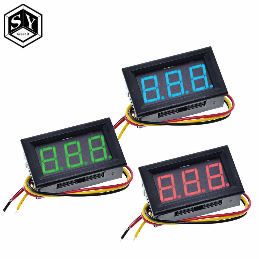 0.56 Inch Mini Rood Groen Blauw LED Display Panel Voltage Meter Voltmeter Thuisgebruik Spanning 3 Drie Digitale DC 4.5V 30V 2/3 Draden