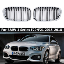 For BMW F20 F21 1 Series 2015 2016 2017 2018 Pair Gloss Matte Black Wide Front Kidney Grill Grilles Car Stying Racing Grills