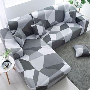Image 5 - Funda de sofá seccional elástica en forma de L, estilo simple, para sala de estar, antiincrustante
