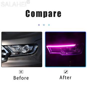 2pcs LED DRL Car Daytime Running Light Flexible Waterproof Strip 12 V 2