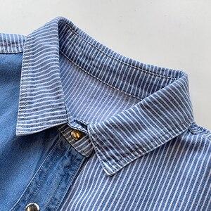 Image 5 - GOPLUS Womens Shirt Blue Blouse Clothing for Women Tops 2020 Turn Down Collar Patchwork Denim Blouses Shirts Haut Chemise Femme