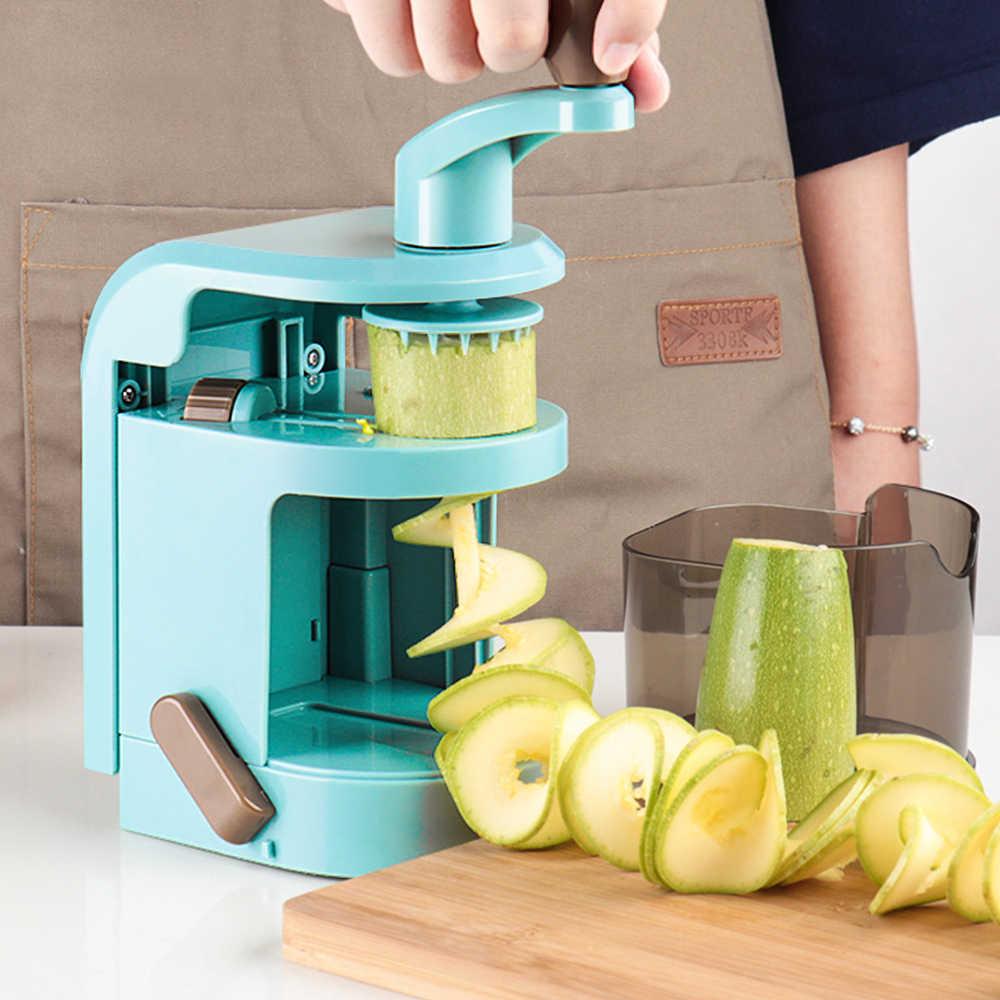 משולבת ספירלת נימה מגרסה יד מסתובב רוטרי קאטר תפוחי אדמה גזר מלפפון מבצע ירקות סלט פומפייה