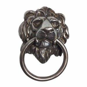 COTOM античный дверной молоток с головой льва, Европейский стиль, латунные дверные деревянные дверные нокеры, вытяжное кольцо, дверные фитинг...