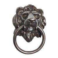 COTOM Antique Lion Head Door Knocker European Style Brass Front Door Wooden Door Knockers Pull Ring Door Fittings