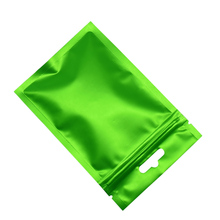8.5x13cm Matte Green Reclosable Mylar Bag Grip Seal Aluminum Foil Package Storage Bags Zip Lock Front Clear Plastic Packing